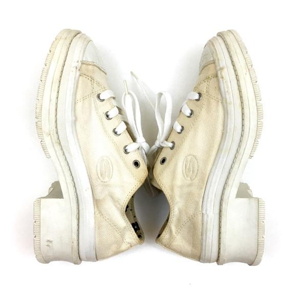 94e6e25ba3 Vintage Shoes | 90s Skechers Chunky Heel Canvas Sneakers | Poshmark